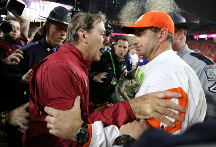 Dabo vs Saban College football odds 2019