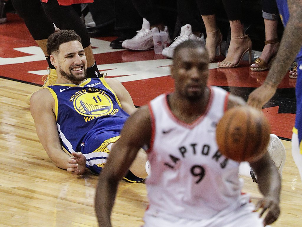 klay thompson injury and point spread game 3