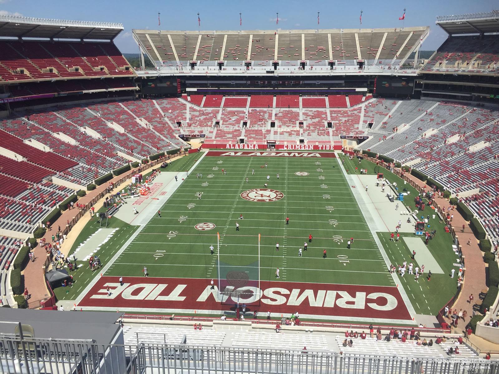 Alabama line and kick off time