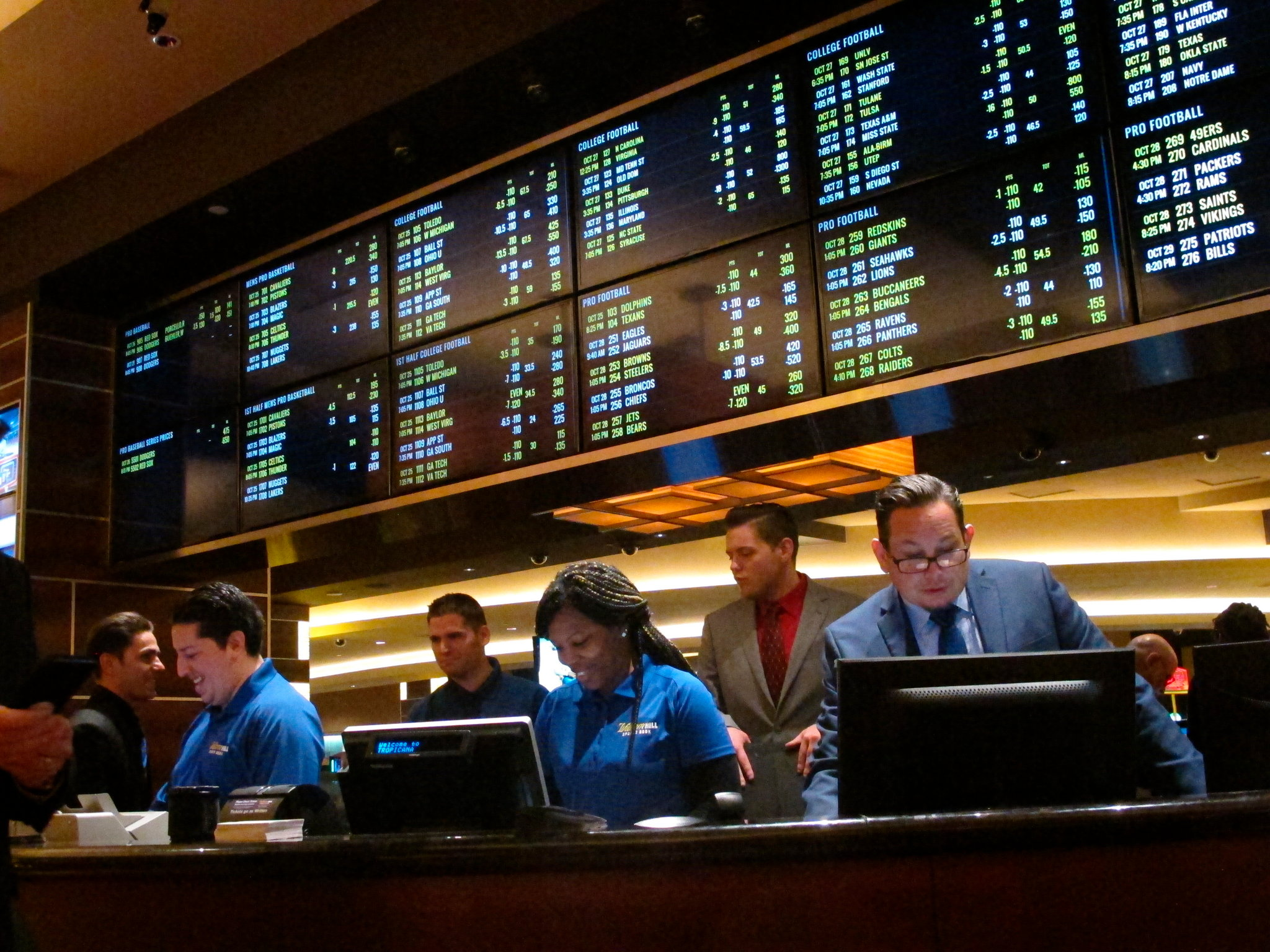 New Jersey sets ports betting handle record