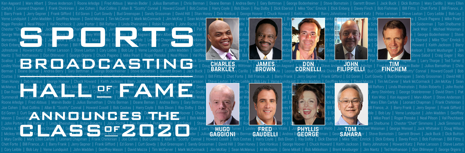 Sports Broadcasting Hall of Fame Announces Class of 2020