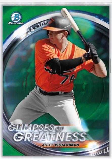 Glimpses of Greatness insert 2020 bowman draft