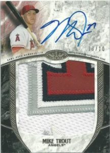2016 Topps Tier One Mike Trout Autograph Prostegious Patches
