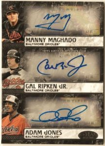 2016 Topps Tier One Triple Autograph