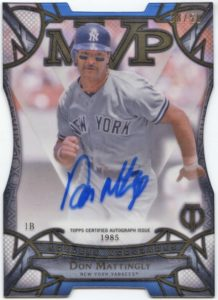 2016 Topps Tribute Don Mattingly Ageless Accolades Autograph Card