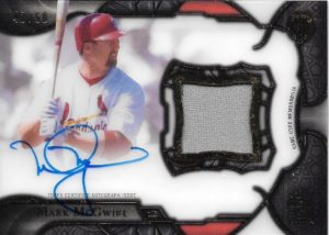 2016 Topps Tribute Mark McGwire Cut From Cloth Auto-Jersey Card