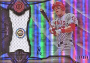 2016 Topps Tribute Mike Trout Stamp of Approval Jersey Card #199