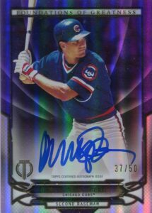 2016 Topps Tribute Ryne Sandberg Greatness Autograph Card
