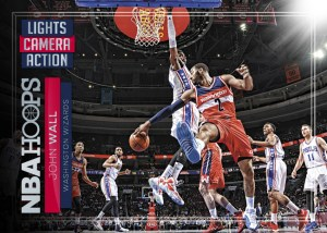 2016-17 NBA Hoops Lights Camera Action John Wall