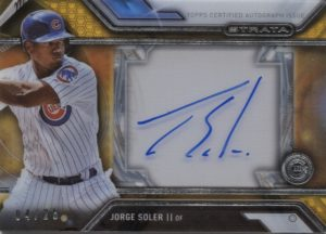 2016 Topps Strata Autograph Jorge Soler Gold