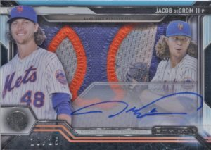 2016 Topps Strata Jacob DeGrom Signature Patch Card