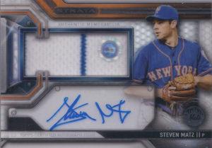 2016 Topps Strata Steven Matz Autograph Relic Card