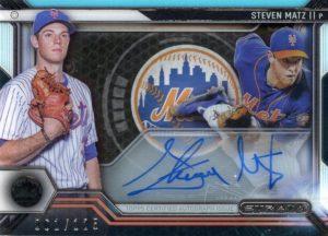 2016 Topps Strata Steven Matz Signature Card