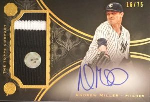 2016 Topps The Mint Andrew Miller Jersey Auto Card