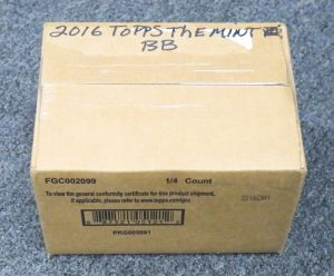 2016 Topps The Mint Baseball Case