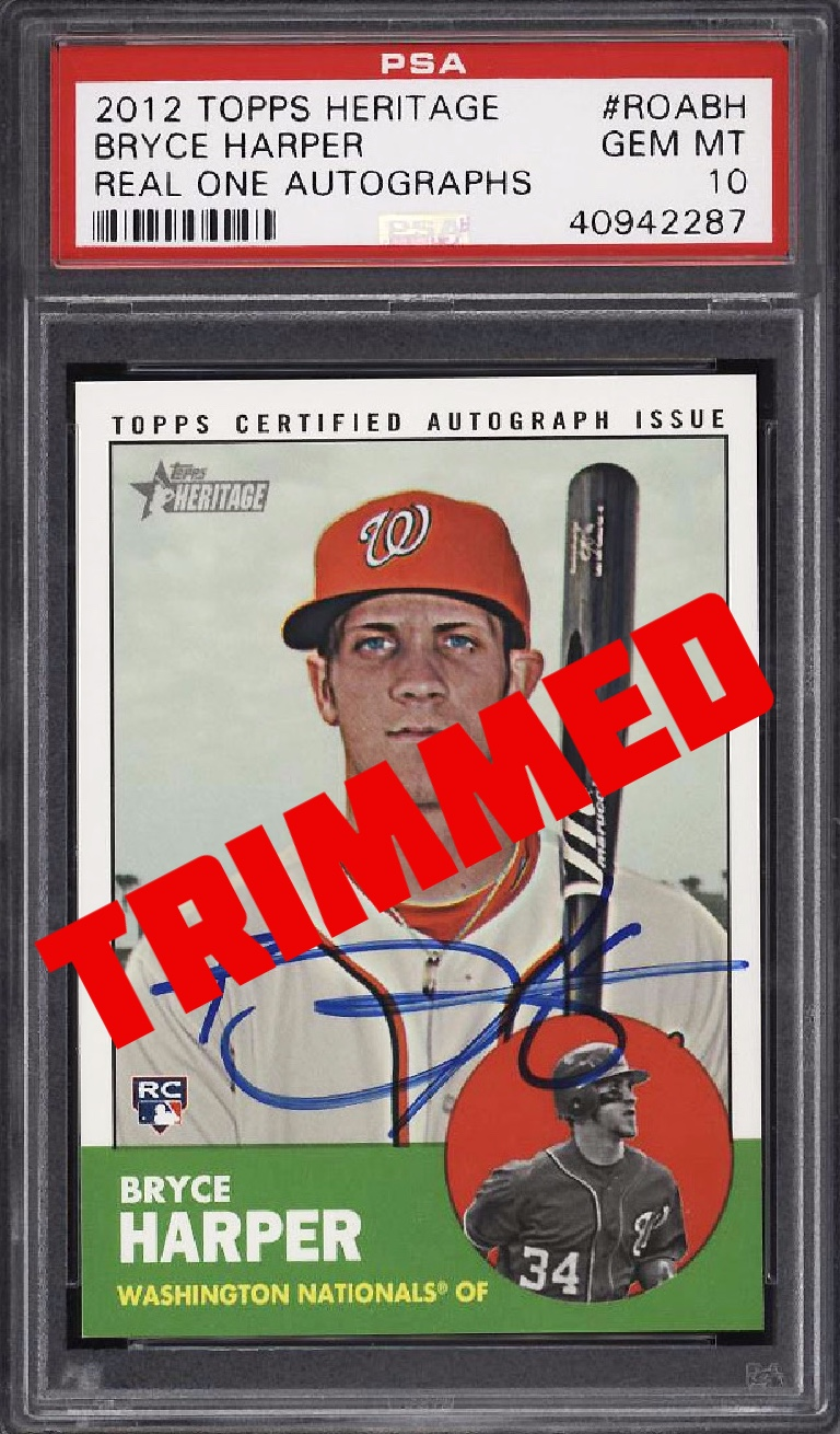 Alert Fake Trimmed Altered Graded Cards By Psa Or Bgs