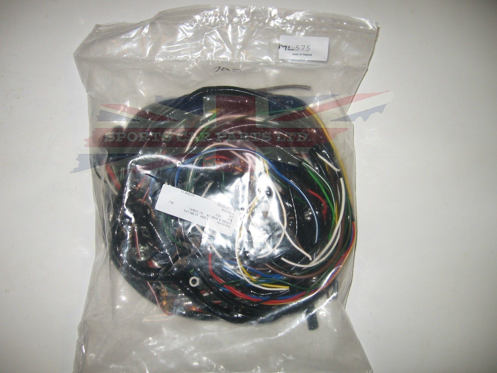 hight resolution of vinyl covered wiring harness for mg mga 1600 19591962