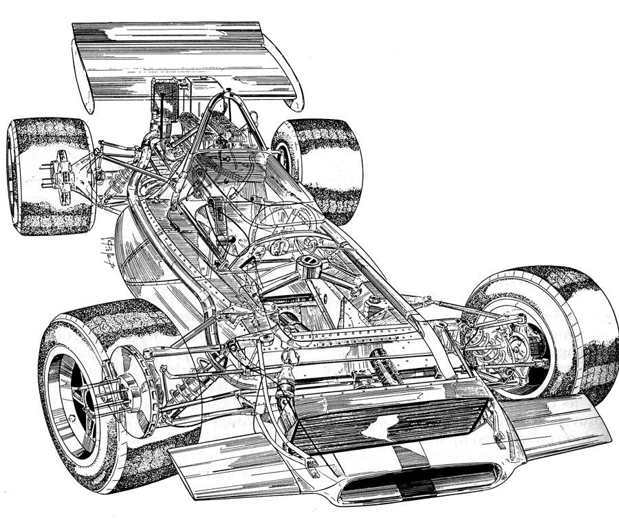 GP cars Cutaways