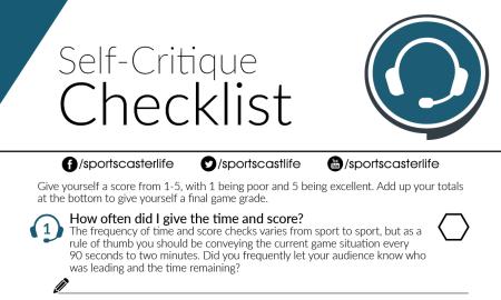 self critique checklist