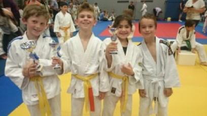 Koen, Glen, Kaira en Gino