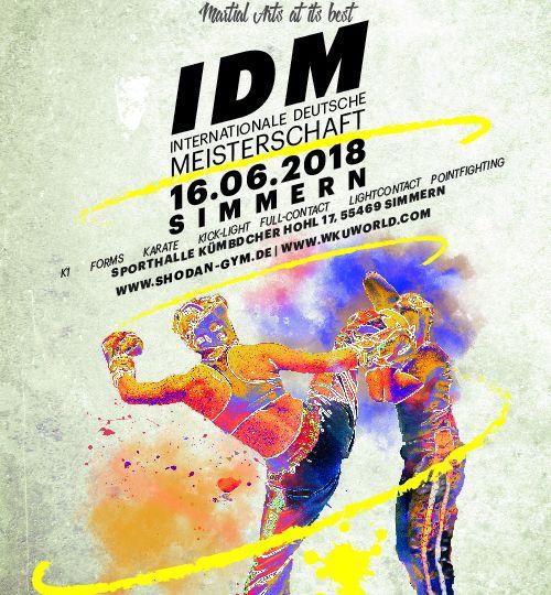Internationale deutsche Meisterschaft WKU Simmern, Sportschule Alex startet mit 17 Wettkämpfern.