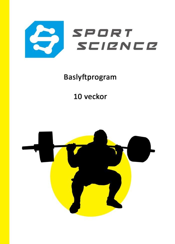 Baslyftprogram - 10 veckor