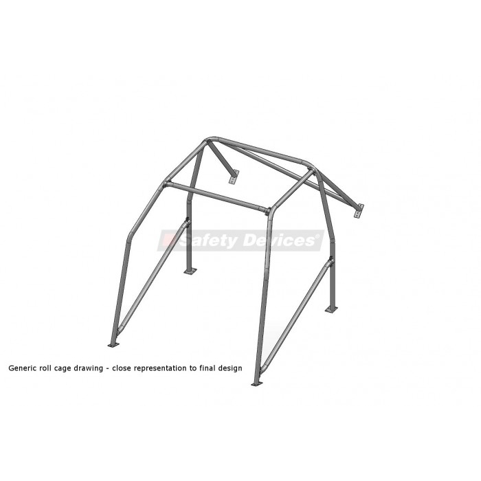 Safety Devices Honda Civic EK9 Full Bolt-In Roll Cage