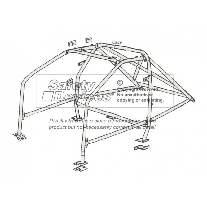 Safety Devices Ford Sapphire 4x4 4-Door Bolt-In Roll Cage