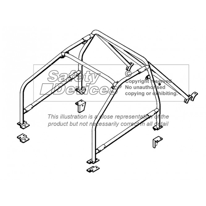 Safety Devices Ford Sierra Cosworth Bolt-In Roll Cage