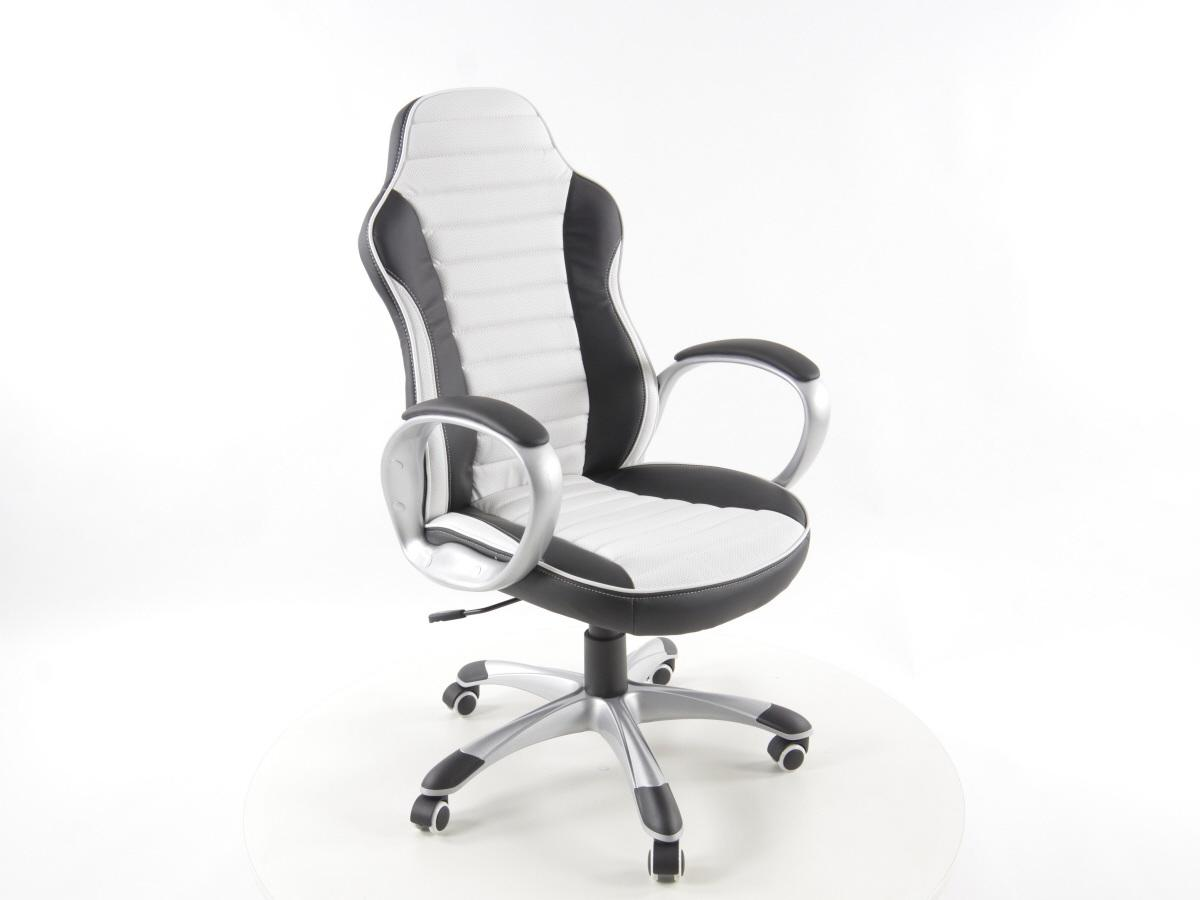 FK Automotive RX2 Racer BlackWhite Office Chair  GSM