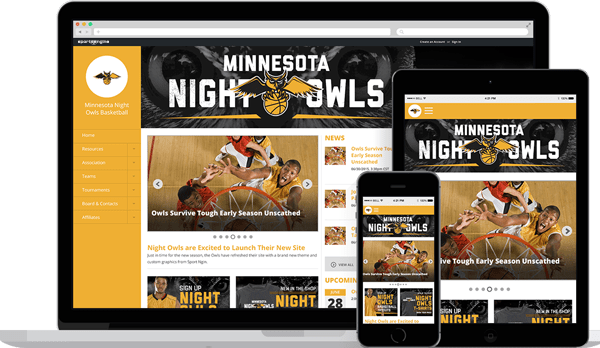 awesome team sports websites