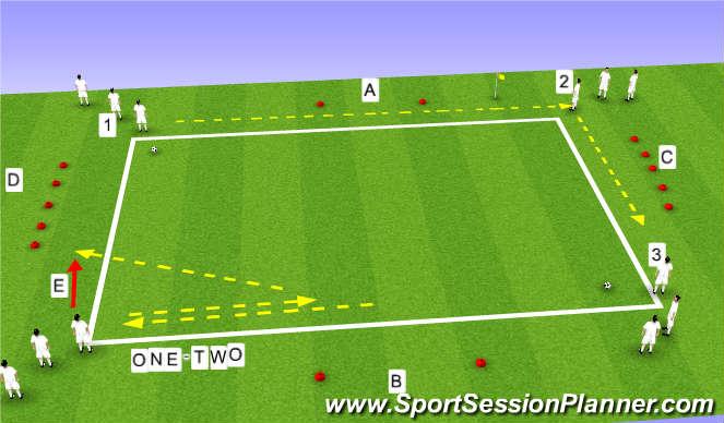 FootballSoccer Basic Passing Drills Technical Passing