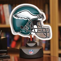 Philadelphia Eagles - Neon Helmet & Cap Desk Lamp at ...