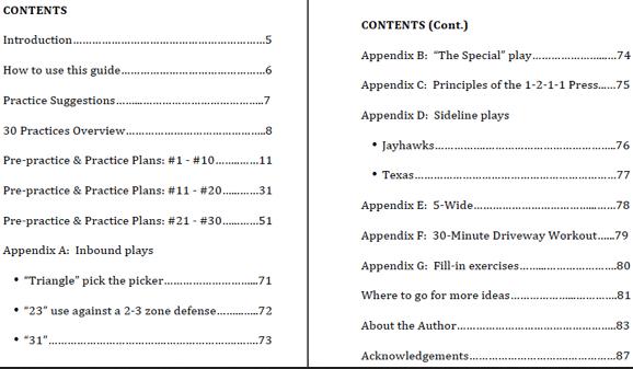 practice plan template