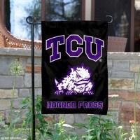 TCU Horned Frogs Black Garden Yard Flag and Garden Flags ...