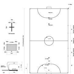 Netball Court Measurement Diagram Pharynx Unlabeled Futsal Painting Line Markings
