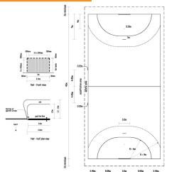 Netball Court Measurement Diagram Nissan Almera Tino Wiring Handball Painting Line Lines