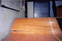 Water Damage on Gym Floor | Flooded Basketball Court | Gym ...