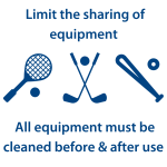 Limit the sharing of equipment