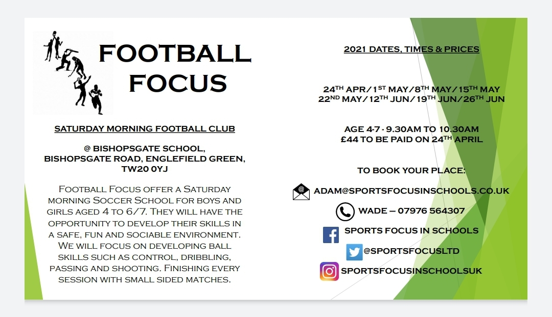Bishopsgate School Saturday Morning Football