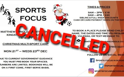 *Christmas Camp Cancelled*