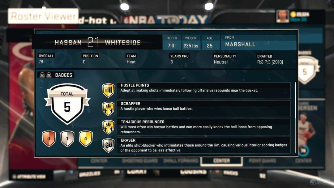 Offiical NBA 2K16 Badges Guide