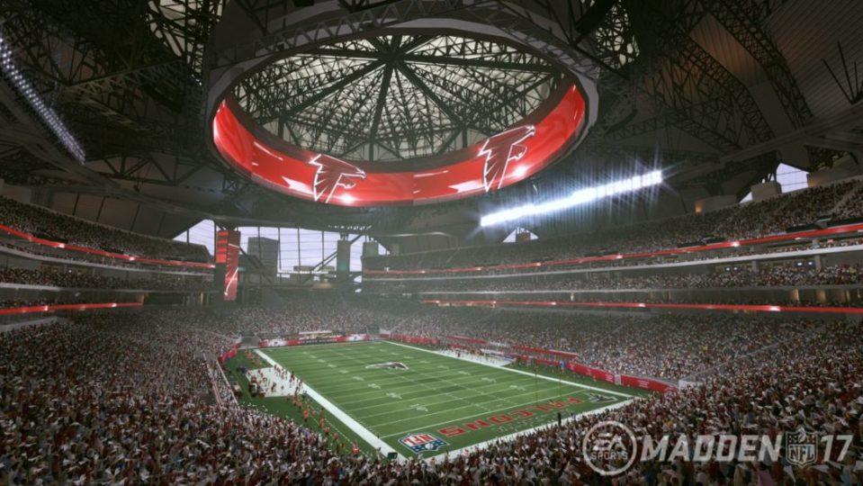Madden NFL 17 mercedes benz stadium