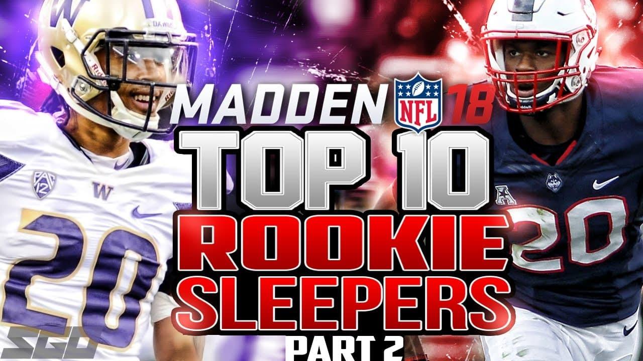 Madden 18 Rookie Sleepers