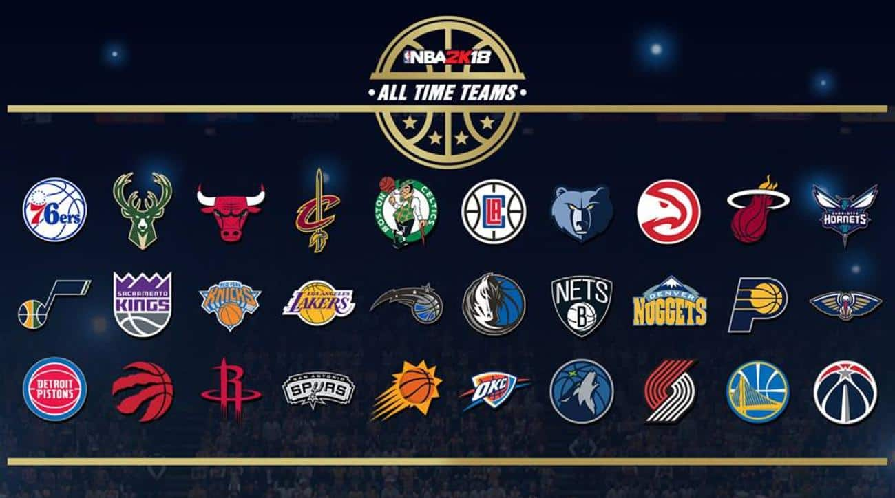 NBA 2K18 All-Time Teams