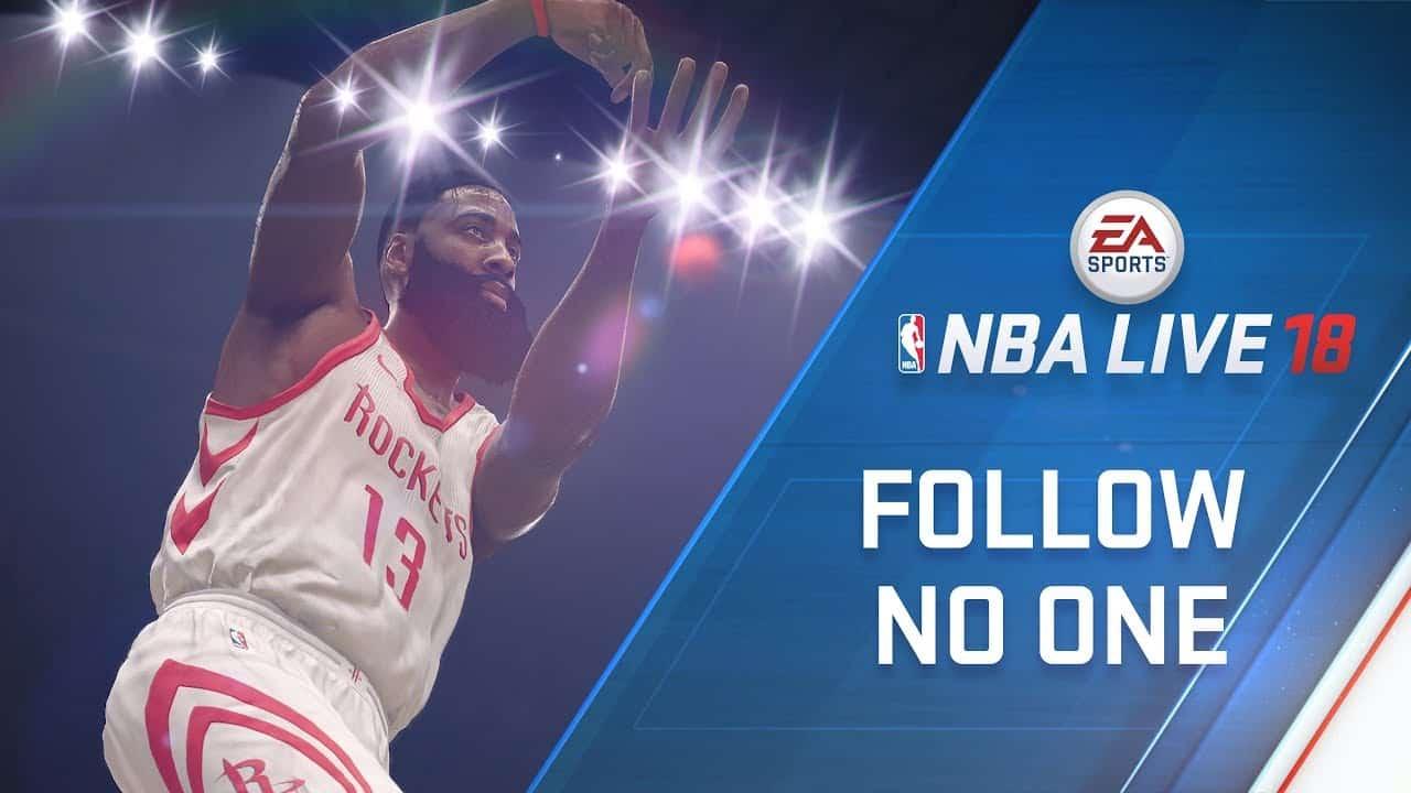 NBA Live 18 James Harden Named Cover Athlete