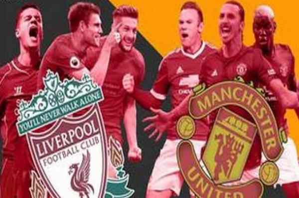 The English Derby, Liverpool up against Manchester United