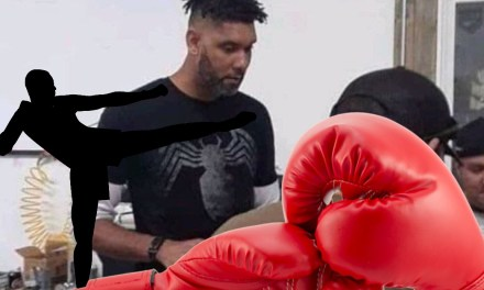 Tim Duncan Spotted Working on his Kickboxing Skills