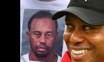 Tiger Woods Really Enjoyed a Fan Wearing his Mugshot on a T-Shirt