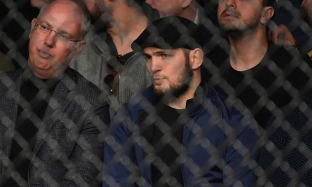 Suspended Khabib Nurmagomedov Checks Out Some UFC Action